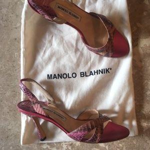 Pink Manolo Blahnik Heels